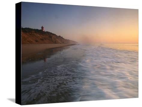 Nauset Light on the Shoreline of Nauset Beach-Michael Melford-Stretched Canvas Print