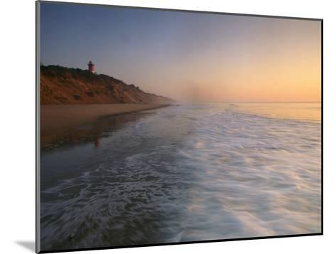 Nauset Light on the Shoreline of Nauset Beach-Michael Melford-Mounted Photographic Print