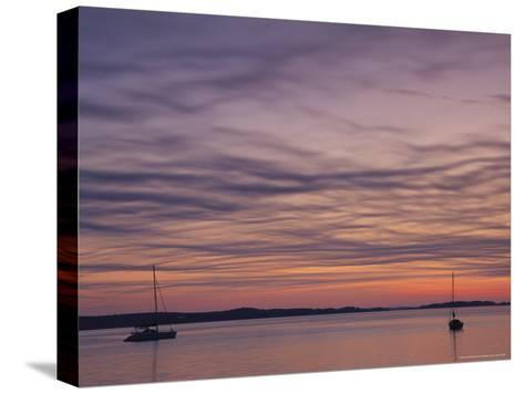 Sailboats Float on Pleasant Bay in Chatham-Michael Melford-Stretched Canvas Print