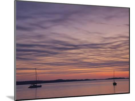 Sailboats Float on Pleasant Bay in Chatham-Michael Melford-Mounted Photographic Print