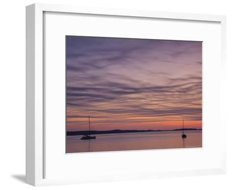 Sailboats Float on Pleasant Bay in Chatham-Michael Melford-Framed Art Print