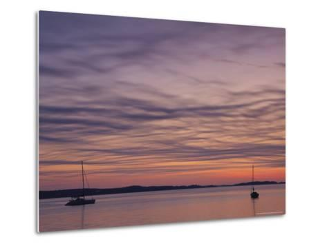 Sailboats Float on Pleasant Bay in Chatham-Michael Melford-Metal Print