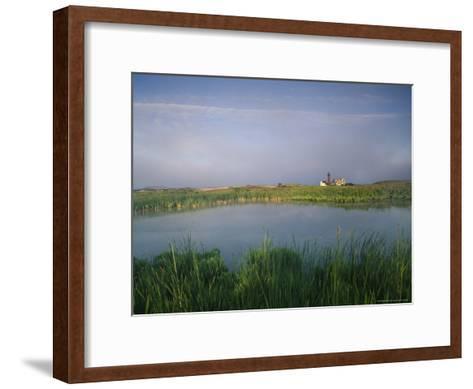 Monomoy Point Lighthouse on South Monomoy Island-Michael Melford-Framed Art Print