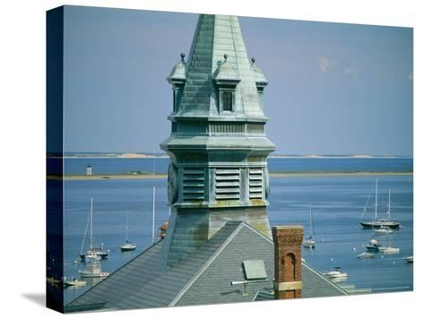 Provincetown Harbor with Town Hall in the Foreground-Michael Melford-Stretched Canvas Print