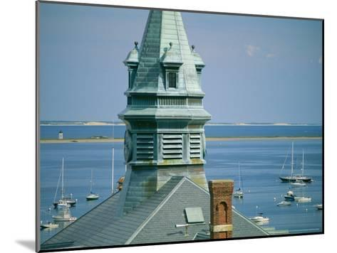 Provincetown Harbor with Town Hall in the Foreground-Michael Melford-Mounted Photographic Print