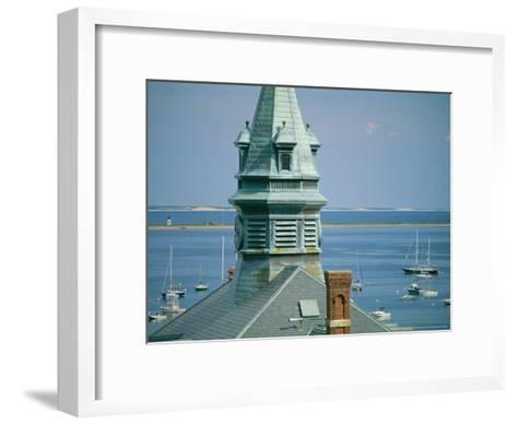 Provincetown Harbor with Town Hall in the Foreground-Michael Melford-Framed Art Print