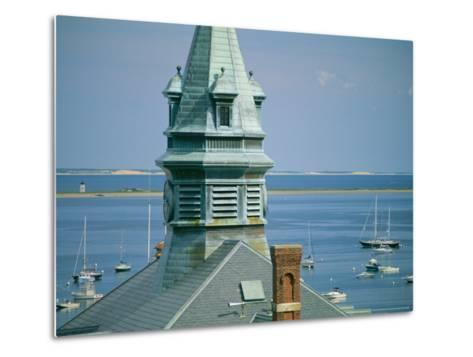 Provincetown Harbor with Town Hall in the Foreground-Michael Melford-Metal Print