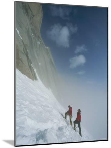Climbers at Base of Great Sail Peak, Above Fog in Stewart Valley-Gordon Wiltsie-Mounted Photographic Print