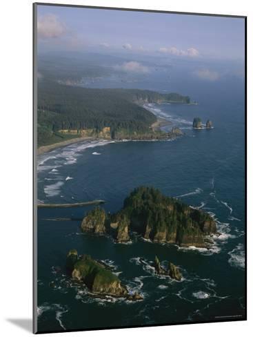 Aerial View of Washington's Coastline with Sea Stacks-Melissa Farlow-Mounted Photographic Print