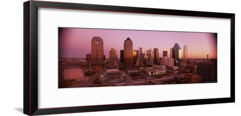 Dallas Skyline at Dusk-Richard Nowitz-Framed Art Print