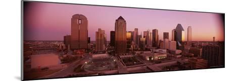 Dallas Skyline at Dusk-Richard Nowitz-Mounted Photographic Print
