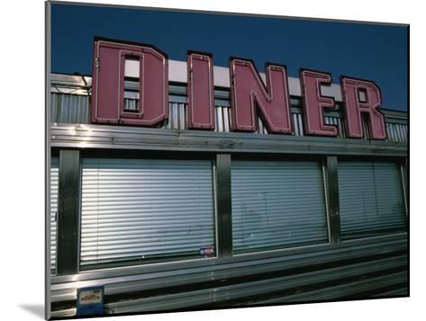 Classic Diner Sign To Pull in Hungry Patrons-Stephen St^ John-Mounted Photographic Print