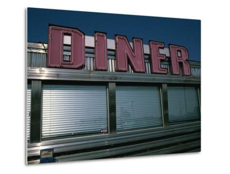 Classic Diner Sign To Pull in Hungry Patrons-Stephen St^ John-Metal Print