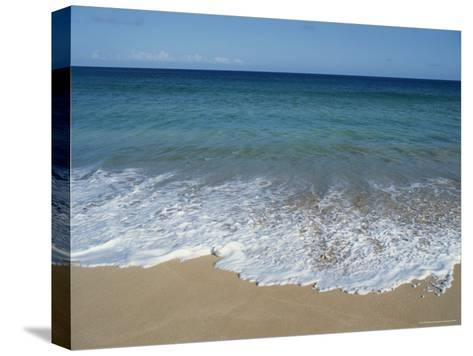 Blue Waters at Papohaku Beach-Rich Reid-Stretched Canvas Print