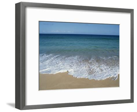 Blue Waters at Papohaku Beach-Rich Reid-Framed Art Print