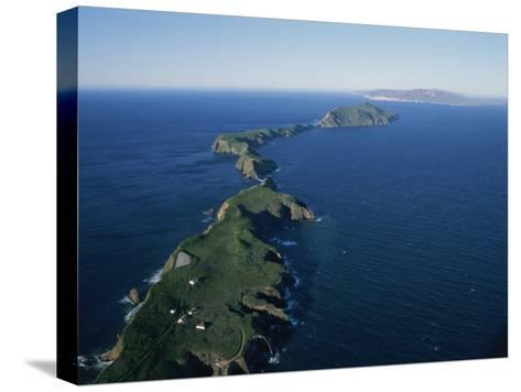 Aerial View of East Anacapa Island in the Channel Islands-Rich Reid-Stretched Canvas Print