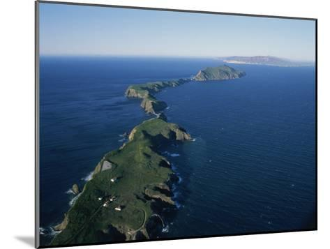 Aerial View of East Anacapa Island in the Channel Islands-Rich Reid-Mounted Photographic Print