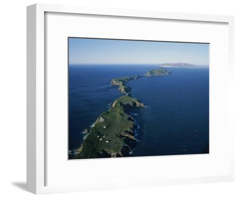 Aerial View of East Anacapa Island in the Channel Islands-Rich Reid-Framed Art Print