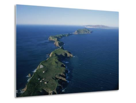 Aerial View of East Anacapa Island in the Channel Islands-Rich Reid-Metal Print