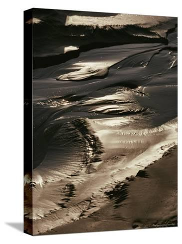 Close View of Tidal Mud Bathed in Sunlight-George Herben-Stretched Canvas Print