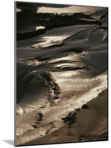 Close View of Tidal Mud Bathed in Sunlight-George Herben-Mounted Photographic Print