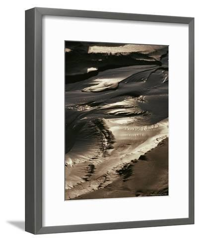 Close View of Tidal Mud Bathed in Sunlight-George Herben-Framed Art Print