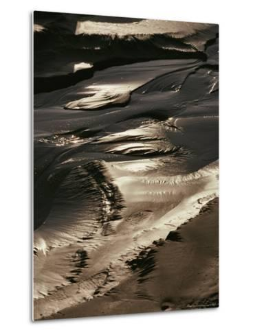 Close View of Tidal Mud Bathed in Sunlight-George Herben-Metal Print
