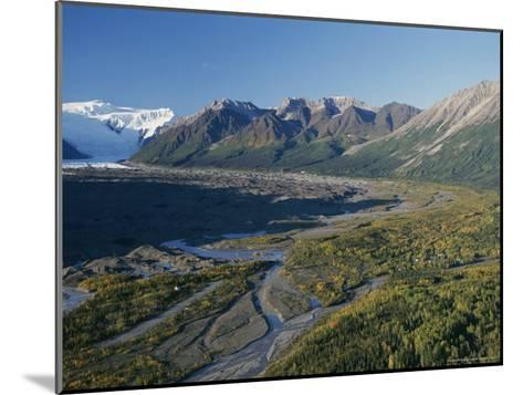 Scenic View of Kennicott Glacier and the Town of Mccarthy-George Herben-Mounted Photographic Print