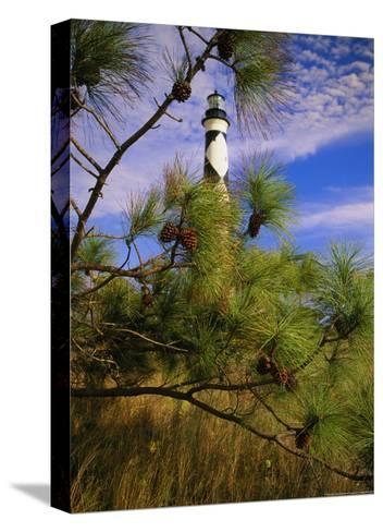 Cape Lookout Light, Prototype For All Outer Banks Lighthouses-Raymond Gehman-Stretched Canvas Print