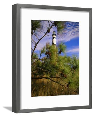 Cape Lookout Light, Prototype For All Outer Banks Lighthouses-Raymond Gehman-Framed Art Print
