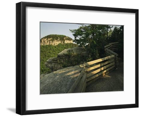 Big Pinnacle of Pilot Mountain, the Monadnock Rises 1,400 Feet-Raymond Gehman-Framed Art Print