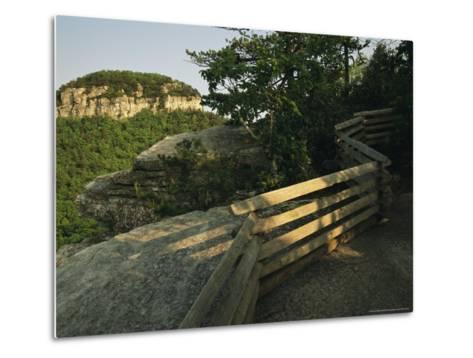Big Pinnacle of Pilot Mountain, the Monadnock Rises 1,400 Feet-Raymond Gehman-Metal Print