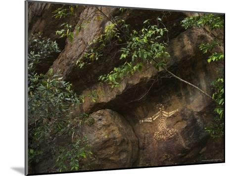 Australian Aboriginal Rock Art on a Rock in Kakadu National Park-Randy Olson-Mounted Photographic Print
