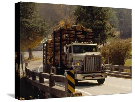 Logs are Hauled Out of Jefferson National Forest-Raymond Gehman-Stretched Canvas Print