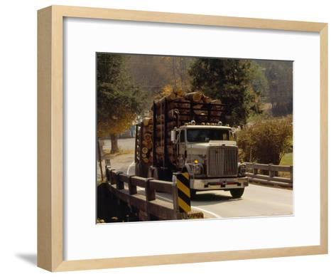 Logs are Hauled Out of Jefferson National Forest-Raymond Gehman-Framed Art Print