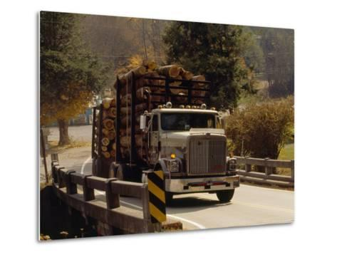 Logs are Hauled Out of Jefferson National Forest-Raymond Gehman-Metal Print