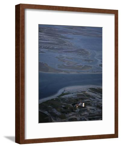 Aerial View of the Stage Harbor Lighthouse and Surrounding Islands-Michael Melford-Framed Art Print
