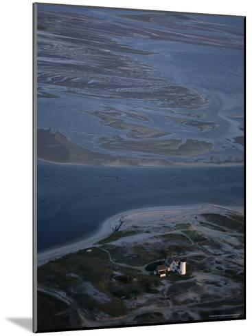 Aerial View of the Stage Harbor Lighthouse and Surrounding Islands-Michael Melford-Mounted Photographic Print