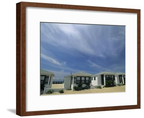 Row of Small Cottages Along the Beach at North Truro-Michael Melford-Framed Art Print