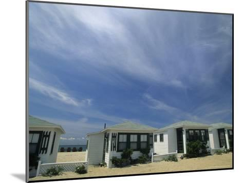 Row of Small Cottages Along the Beach at North Truro-Michael Melford-Mounted Photographic Print