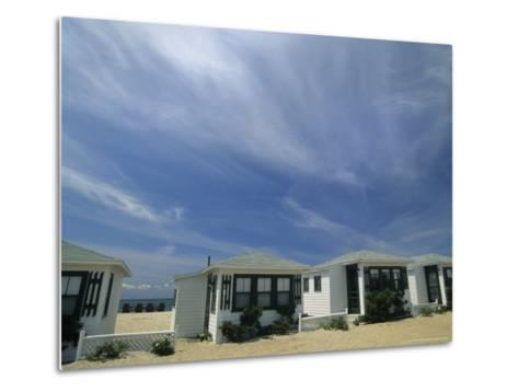 Row of Small Cottages Along the Beach at North Truro-Michael Melford-Metal Print