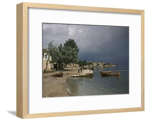 Psathopyrogos Lies at the Entrance To the Historic Gulf of Corinth-B^ Anthony Stewart-Framed Art Print