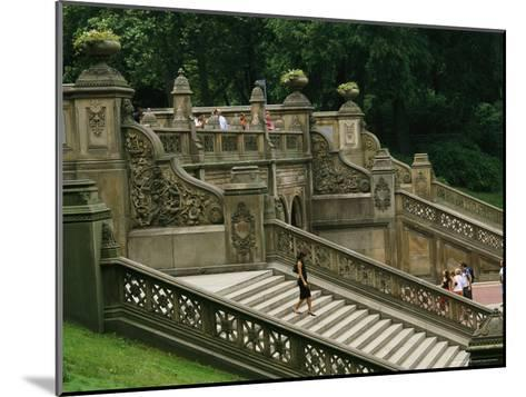 Bethesda Terrace Steps in Central Park-Melissa Farlow-Mounted Photographic Print