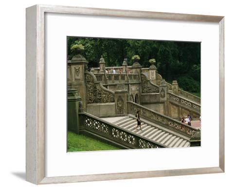 Bethesda Terrace Steps in Central Park-Melissa Farlow-Framed Art Print