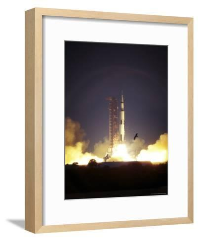Launch of Apollo 14-Rex Stucky-Framed Art Print