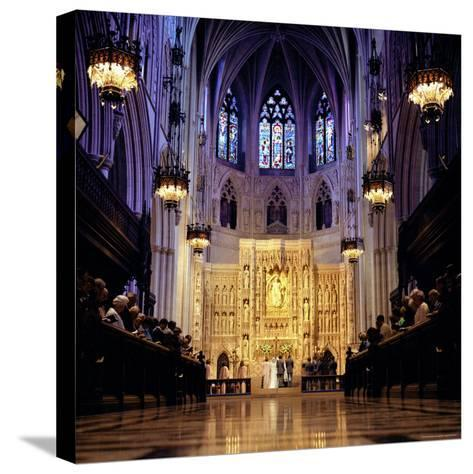 Wedding Ceremony at the High Altar of the National Cathedral-Rex Stucky-Stretched Canvas Print