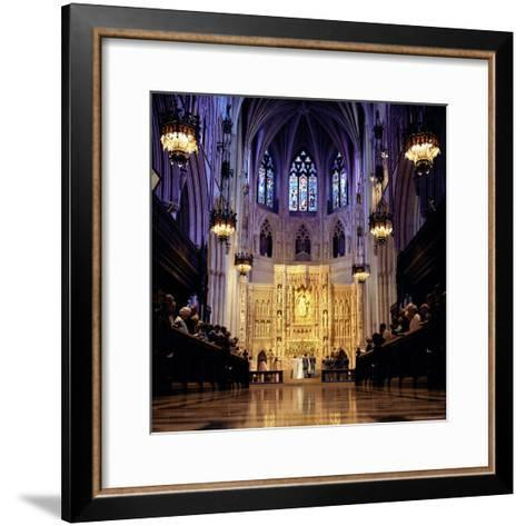 Wedding Ceremony at the High Altar of the National Cathedral-Rex Stucky-Framed Art Print