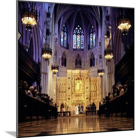 Wedding Ceremony at the High Altar of the National Cathedral-Rex Stucky-Mounted Photographic Print