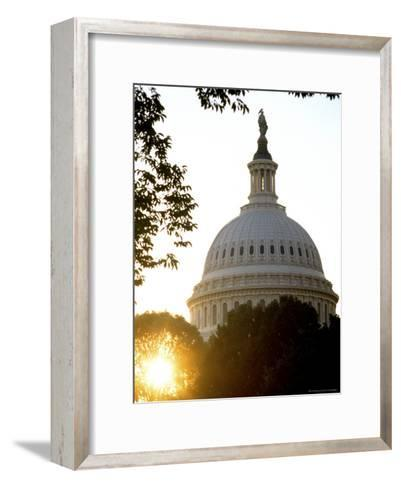 Dome of the United States Capitol-Rex Stucky-Framed Art Print