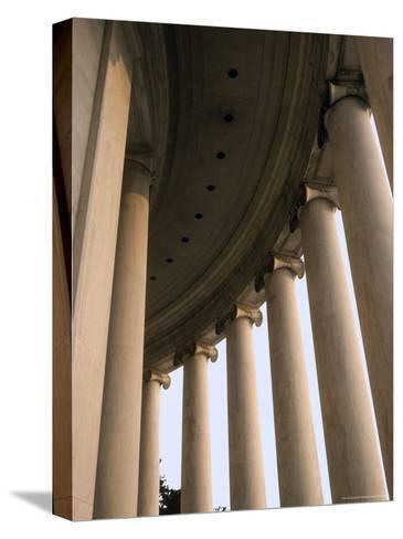 Columns Surround the Jefferson Statue at the Jefferson Memorial-Rex Stucky-Stretched Canvas Print